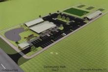 Artist's rendition of the proposed Orchidland community center complex
